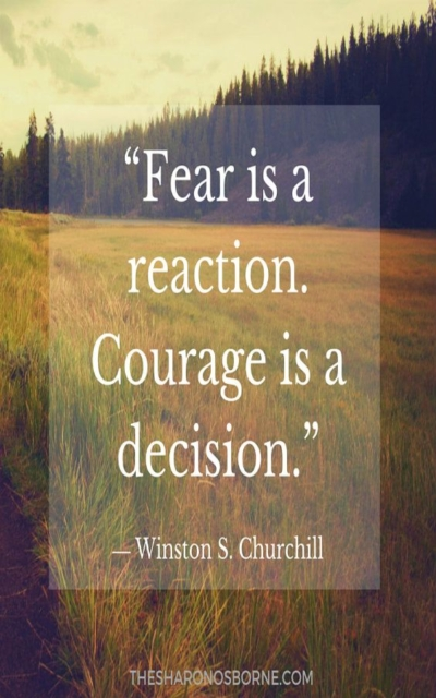 Fear is a reaction.
