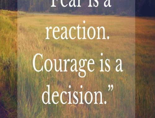 Fear is a reaction to…