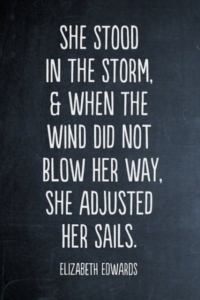 she stood in the storm